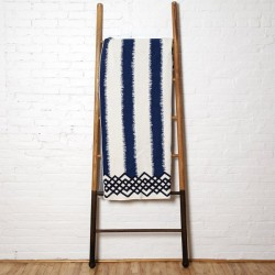 Eco Feathered Stripe Throw