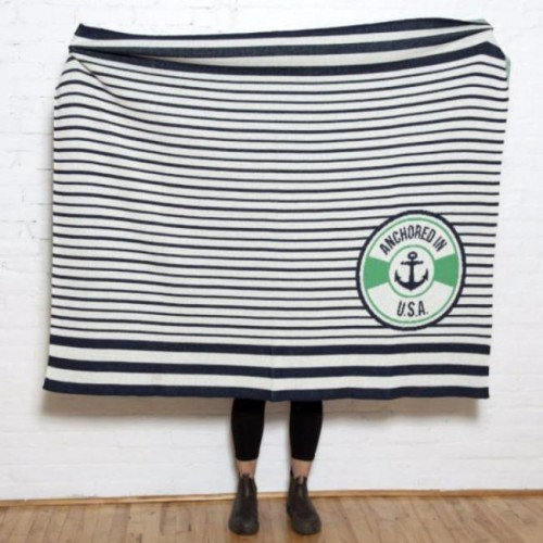 Eco Anchored in USA Throw