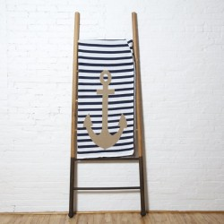 Poly French Stripe Throw